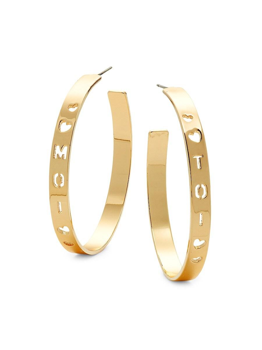 Women's Moi Toi Goldplated Hoop Earrings