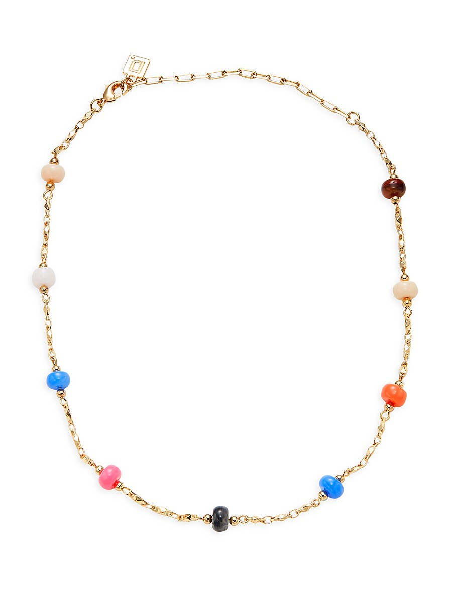 Women's Bryce Goldplated Multi-Color Beaded Necklace
