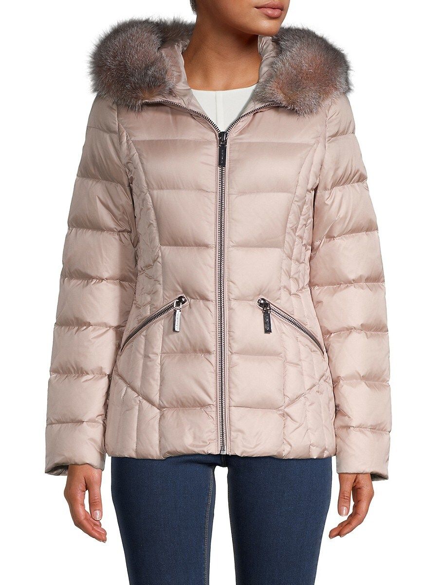 Women's Nikki Fox Fur Down Puffer Jacket