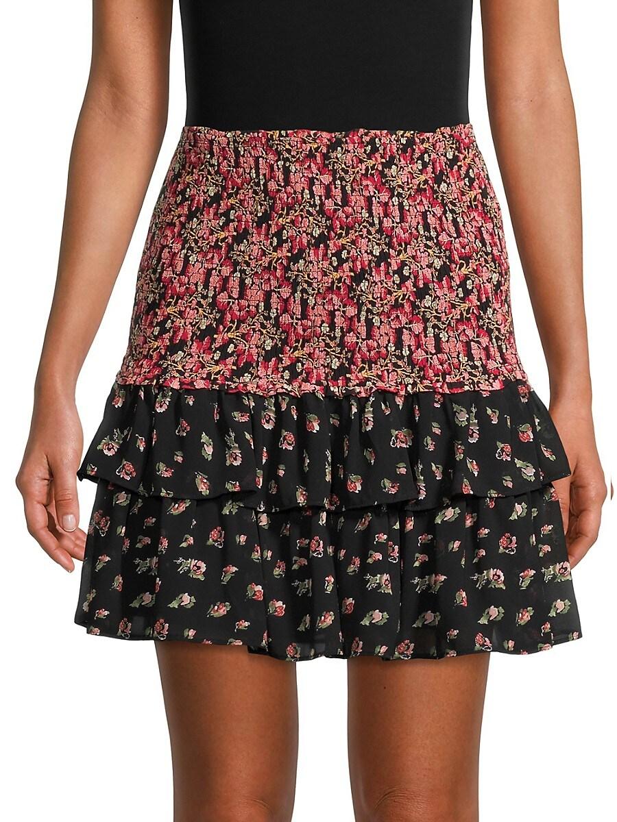 Women's Floral A-Line Skirt