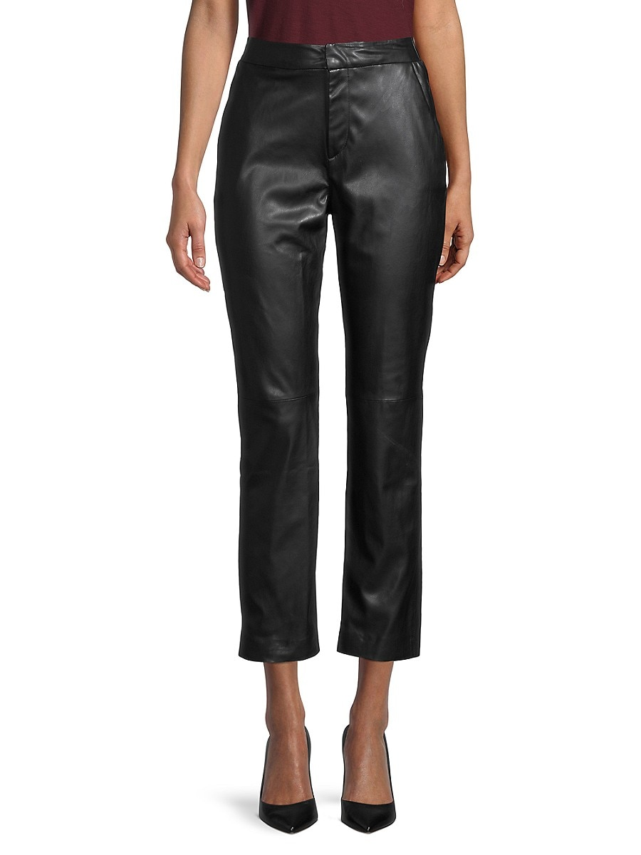 Women's Cropped Faux Leather Pants