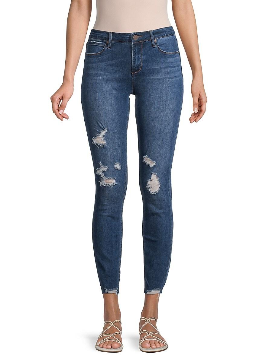 Women's Sarah Raw Hem Distressed Ankle Jeans