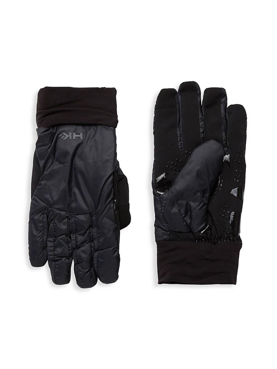 HAWKE & CO Men's Nylon Gloves - Black - Size S/M