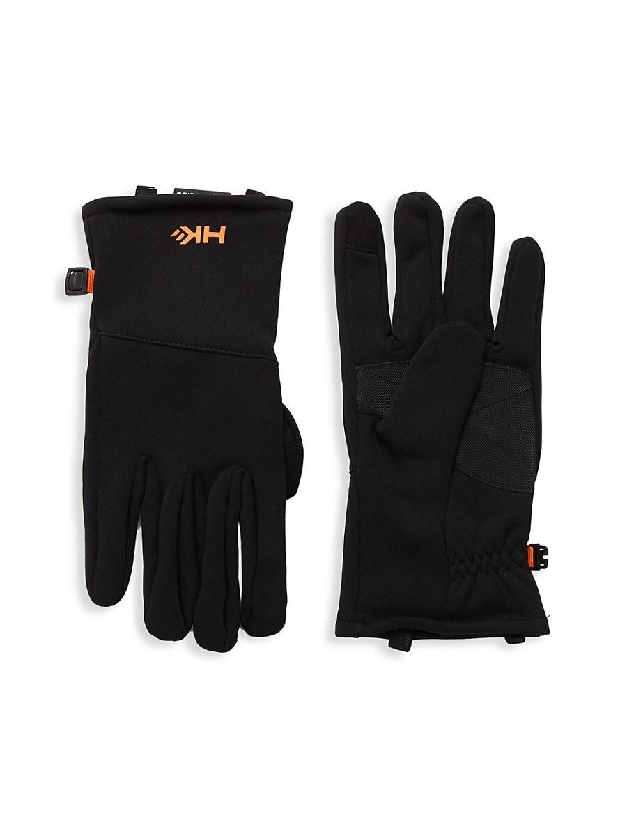 HAWKE & CO Men's Power Stretch Logo Gloves - Black - Size S/M