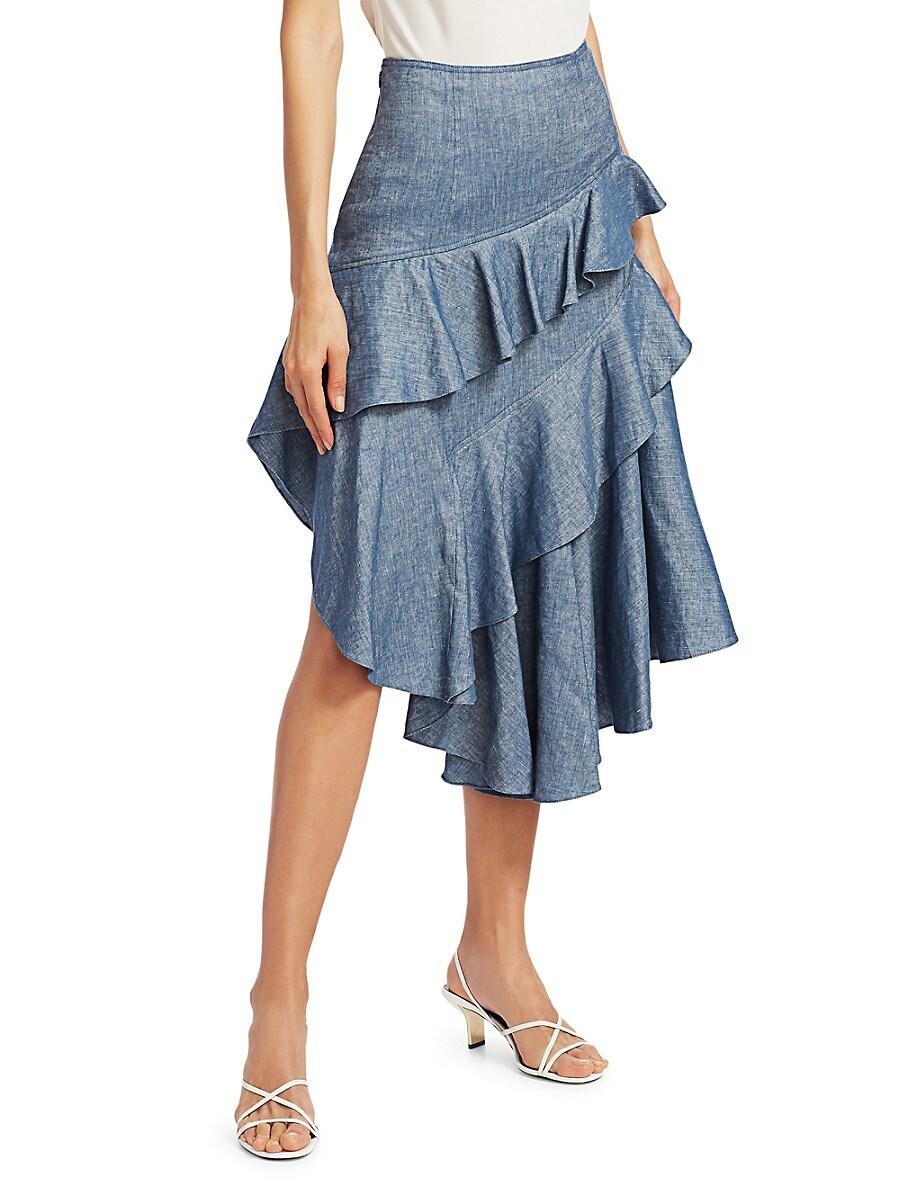Women's Winslow High-Waist Ruffle Tiered Midi Skirt