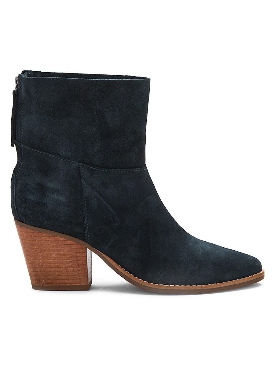 Women's Soho Stacked-Heel Suede Booties