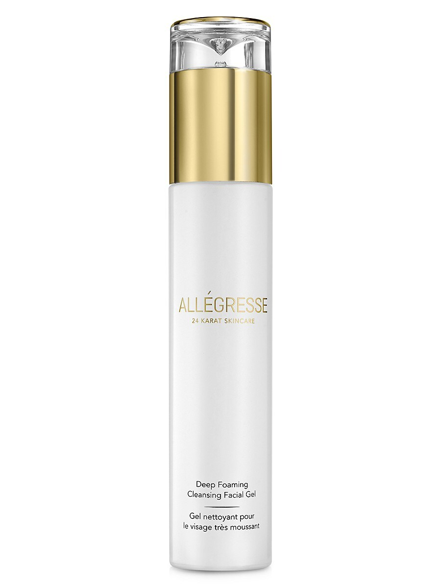 Allegresse 24K Skin Care Deep Foaming Cleansing Facial Gel Daily Cleanser - Size 4 Oz.