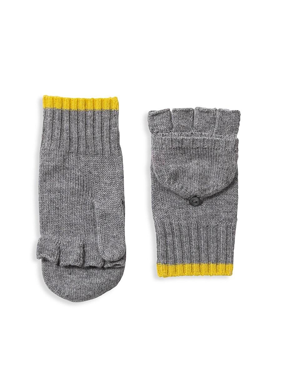 Women's Pop-Top Cashmere Gloves
