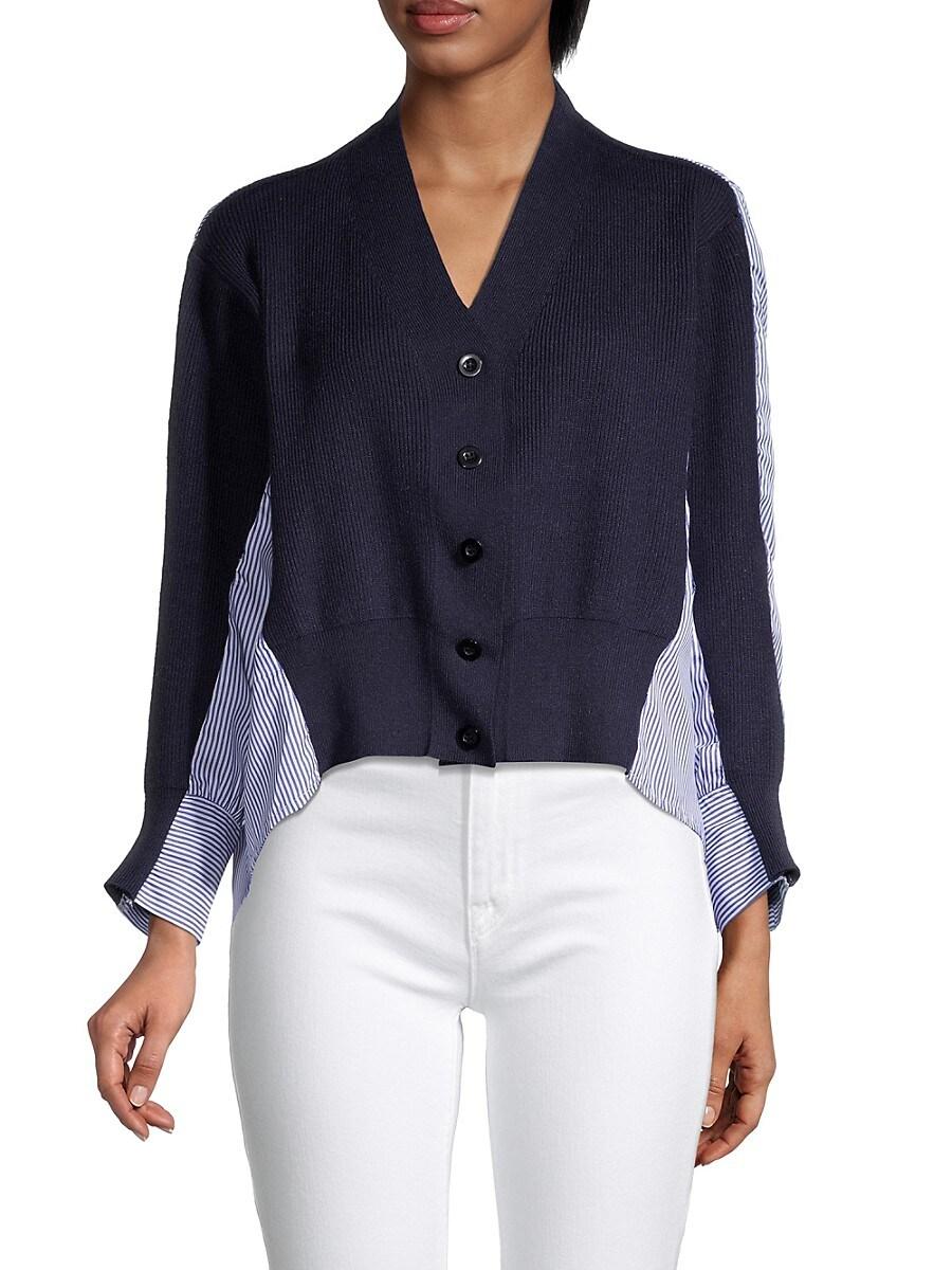 Women's V-Neck Slit Sweater