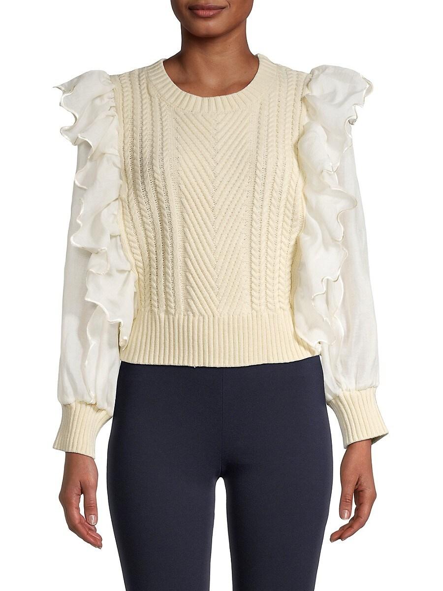 Women's Ruffle Sweater