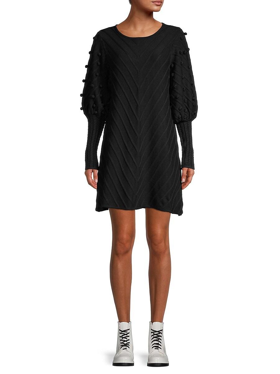 Women's Puff-Sleeve Knit Dress