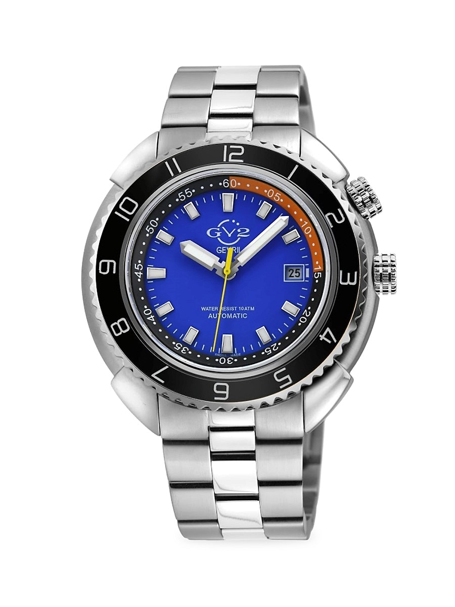 Men's Squalo Stainless Steel Swiss Automatic Watch