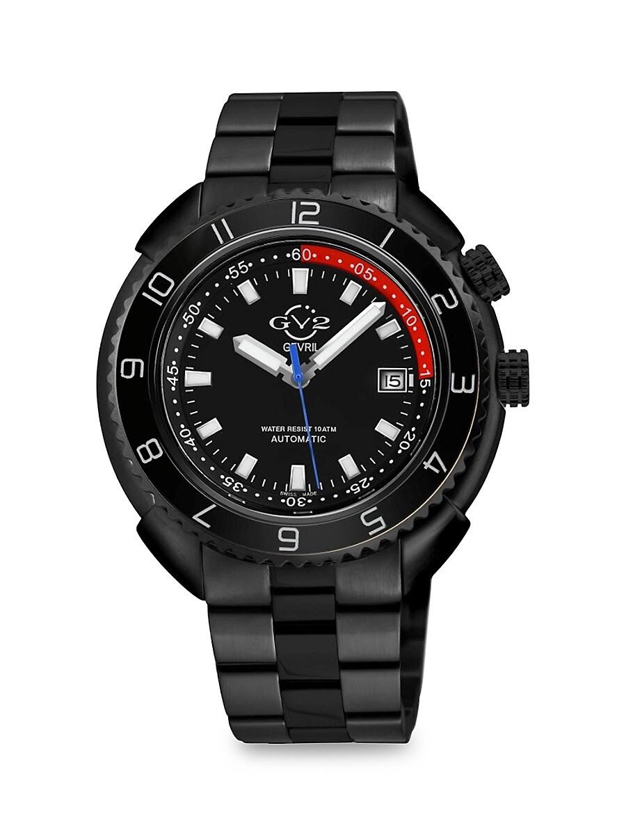 Men's Squalo Swiss Stainless Steel Automatic Bracelet Watch