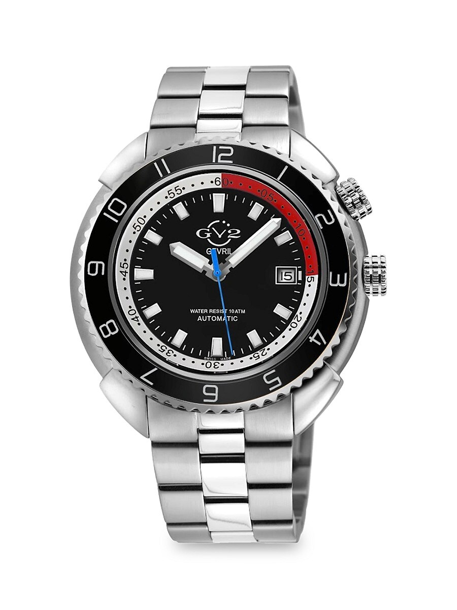 Men's Squalo Stainless Steel Automatic Diver Watch