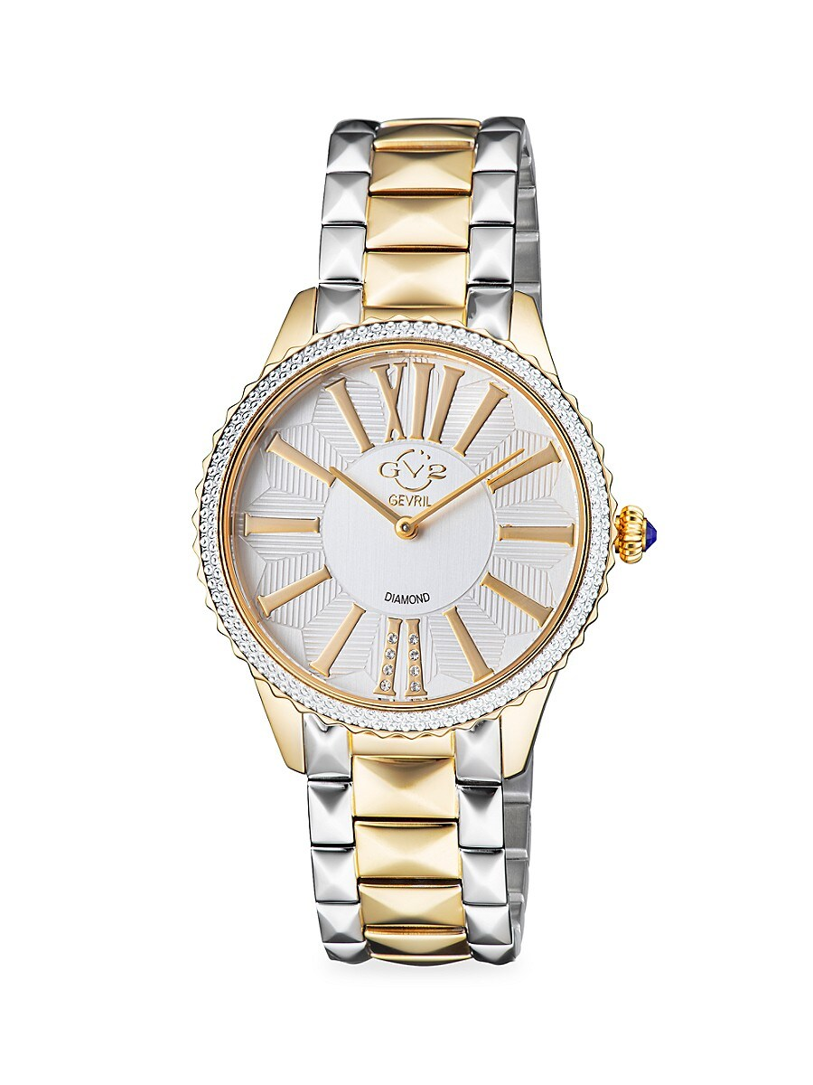 Women's Siena Two-Tone Stainless Steel & Diamond Bracelet Watch