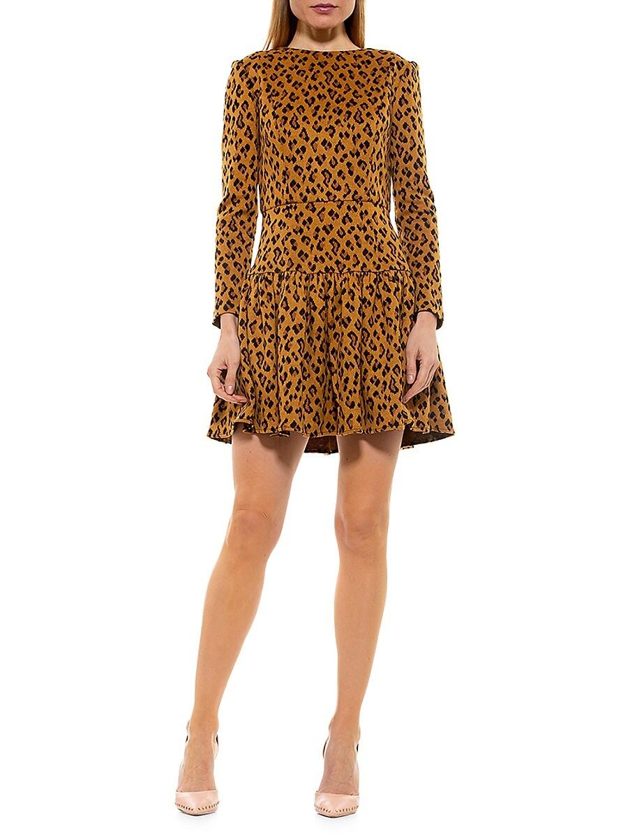 Women's Leopard Tiered Mini Dress