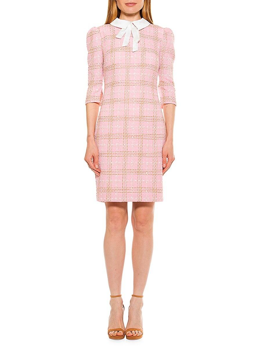 Women's Camilla Plaid Tweed Sheath Dress