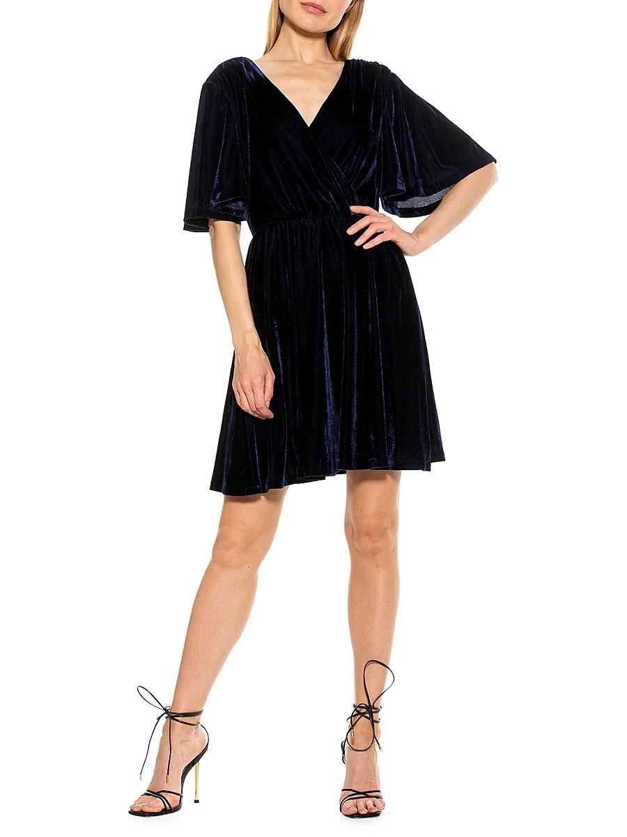 Women's Oakless Velvet Fit-&-Flare Dress