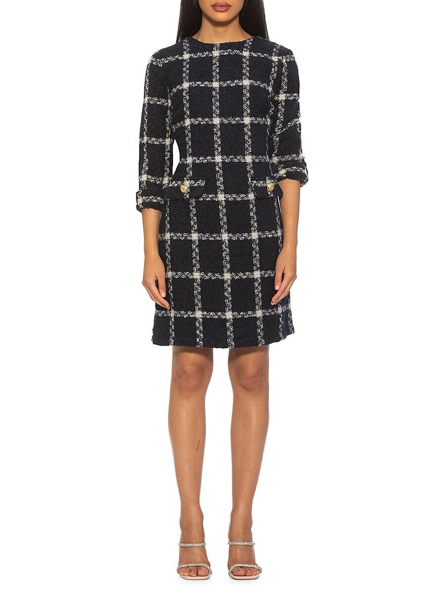Women's Anna Check Tweed Sheath Dress