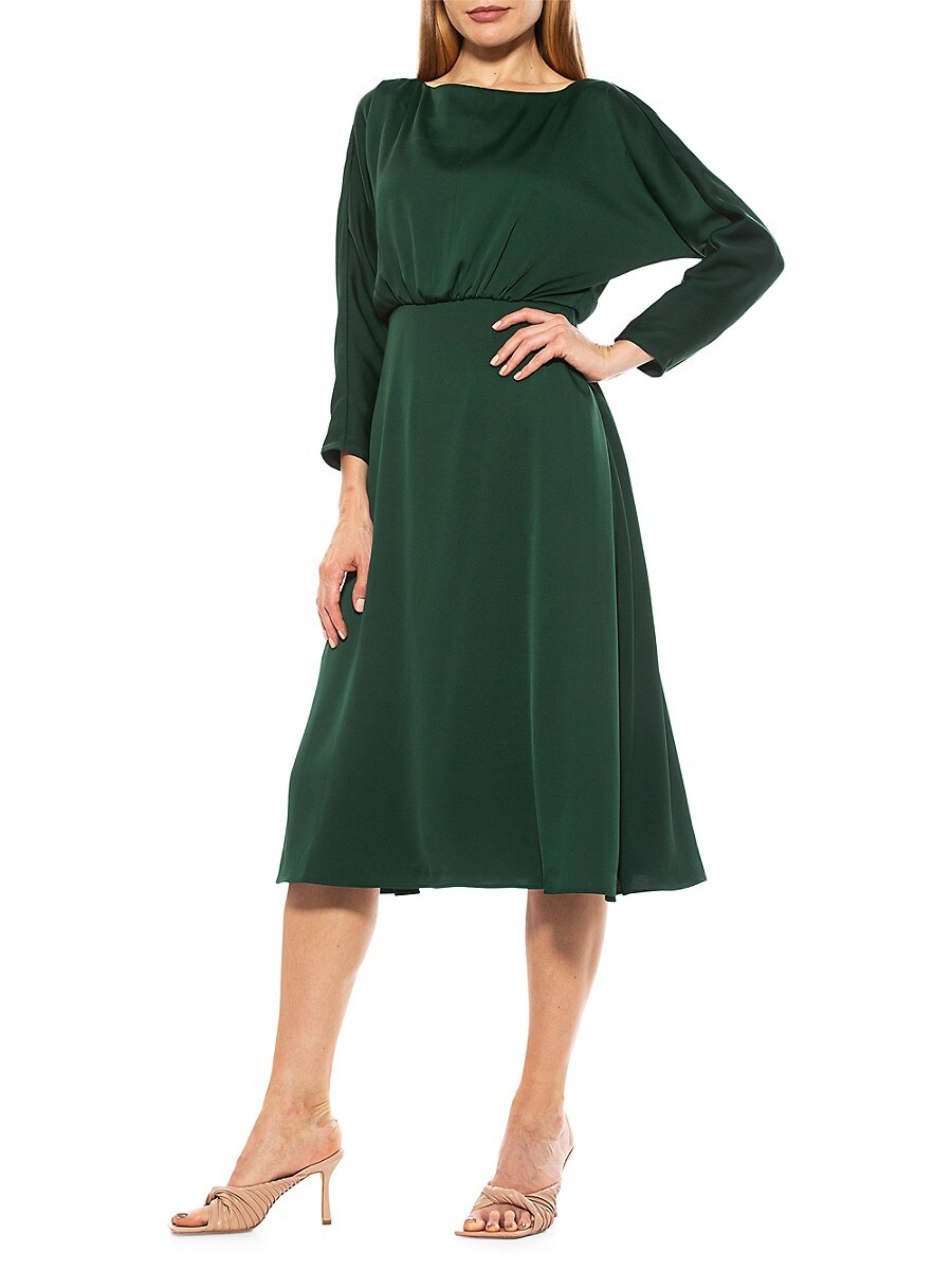 Women's Ellie Boatneck Flare Midi Dress