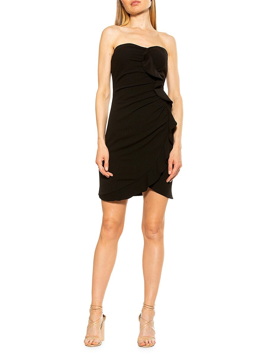 Women's Tulip-Hem Ruffle Sheath Dress