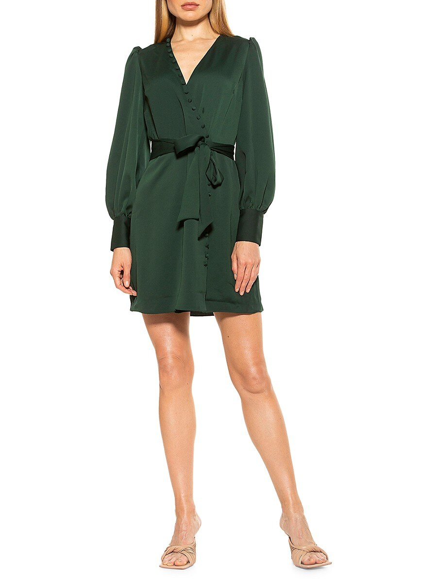 Women's Arya Button-Front Wrap Dress