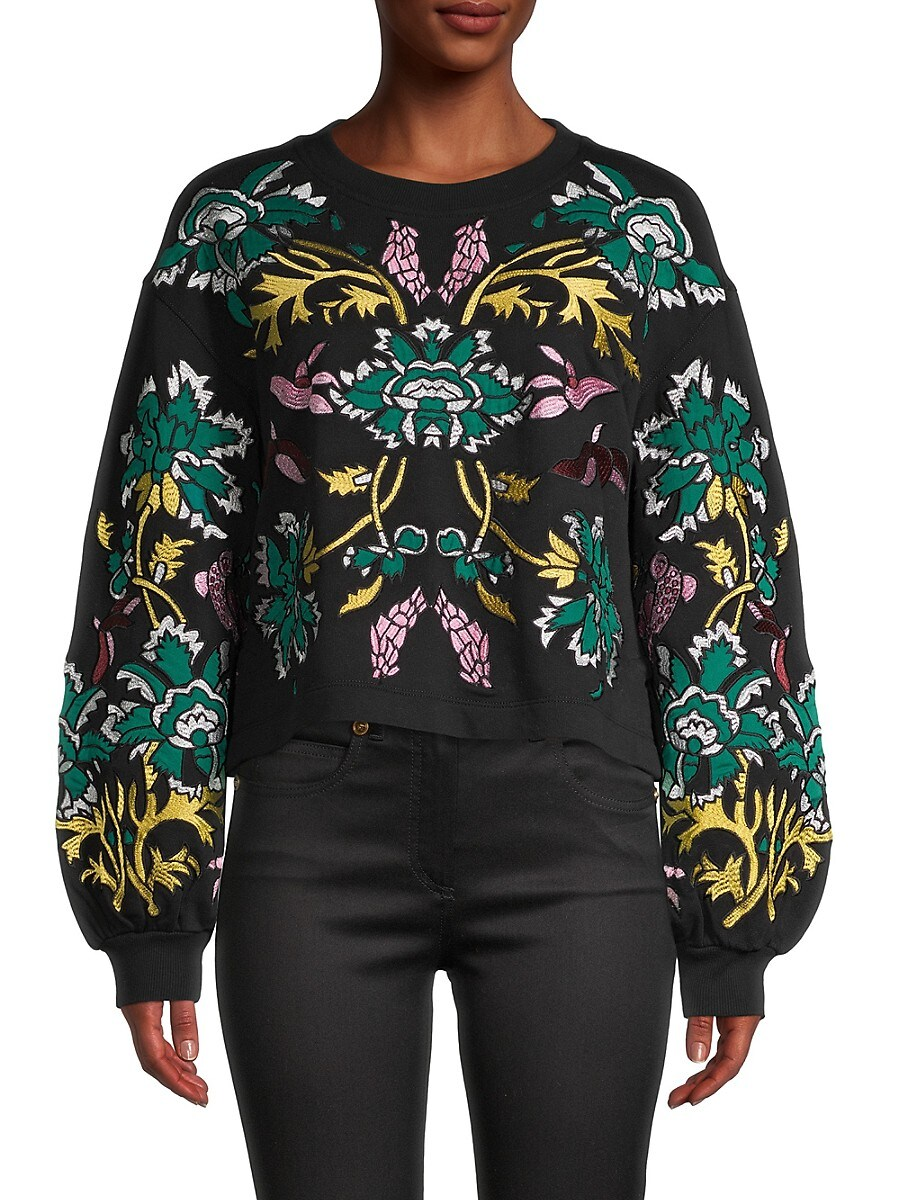 Alice + Olivia by Stacey Bendet Women's Gaia Cropped Sweatshirt