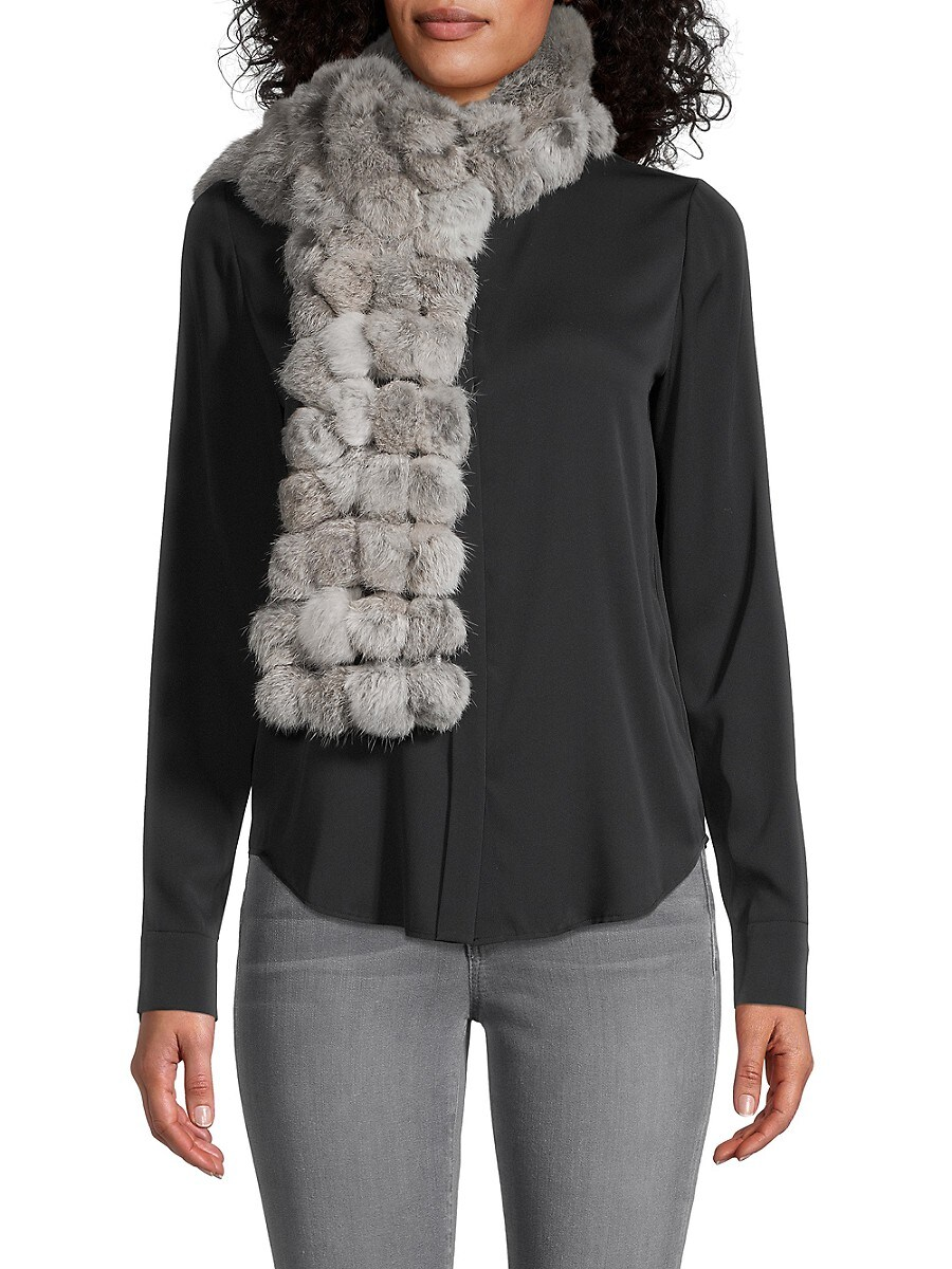 Women's Rabbit Fur Bubble Scarf