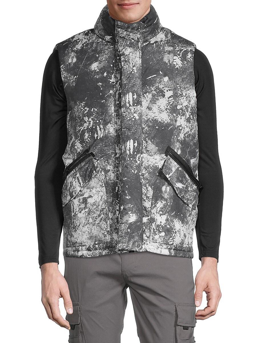 Men's Abstract-Print Vest