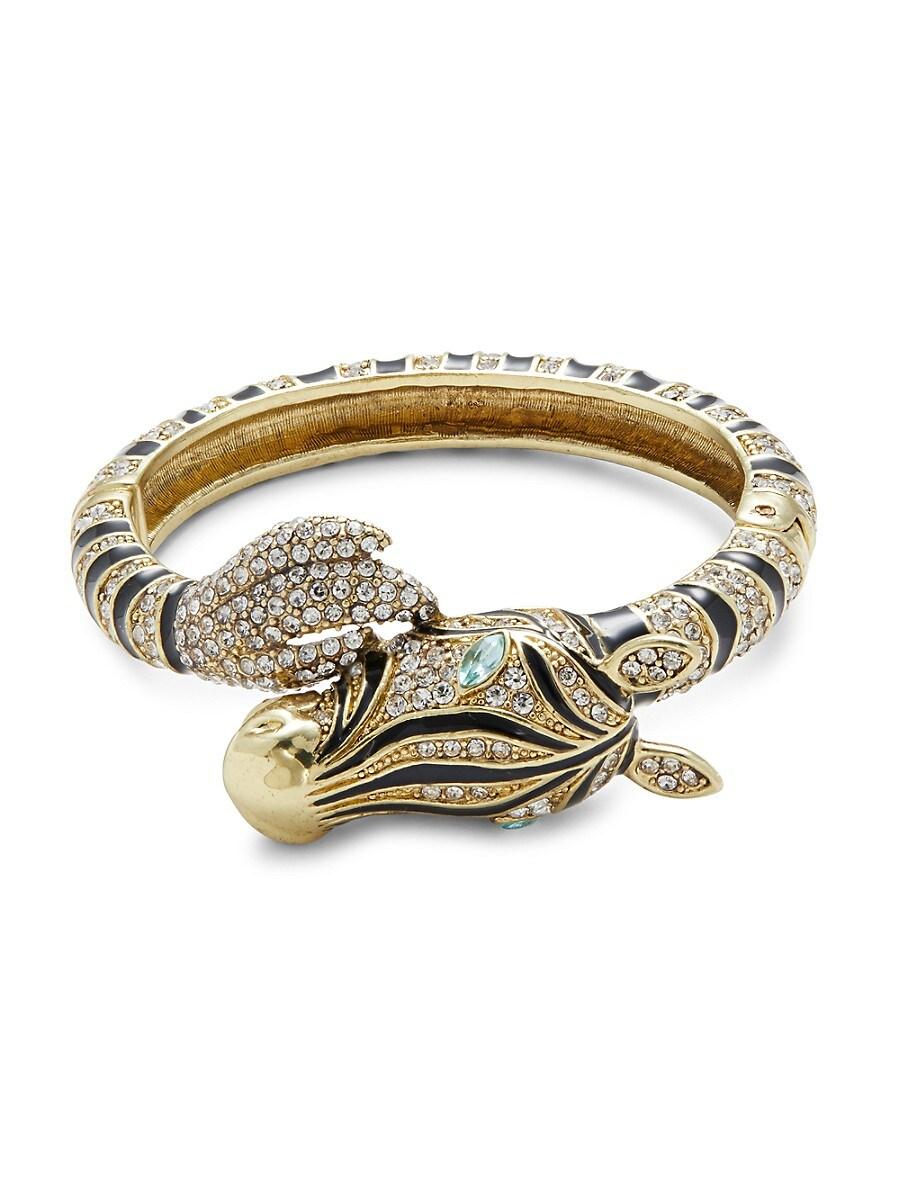 Women's Enamel & Crystals Zebra Bracelet