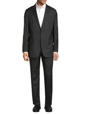 Versace Wools Pinstripe Wool Suit