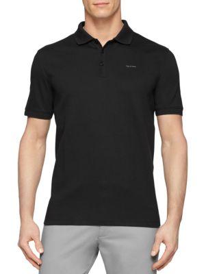 Calvin Klein Cottons Short Sleeve Cotton Polo