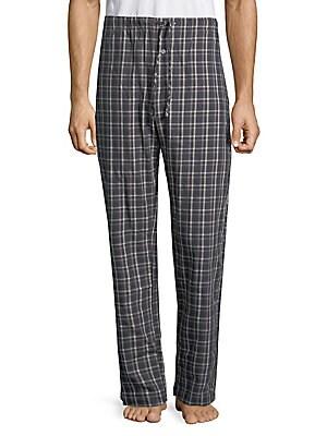 Plaid Cotton Pajama Pants