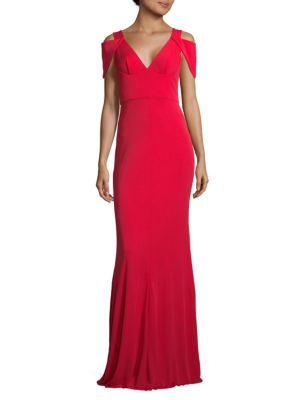 Abs By Allen Schwartz JERSEY V-NECK GOWN