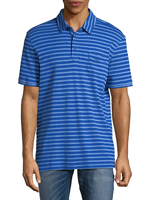 Slim-Fit Striped Cotton Polo Shirt