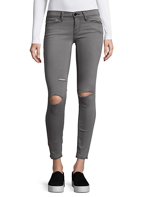 Le Skinny Satine Distressed Jeans
