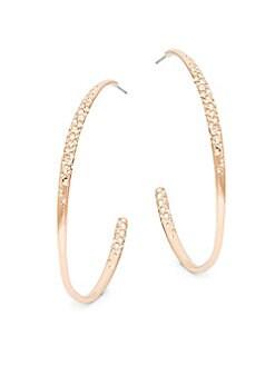 Alexis Bittar - Swarvoski Crystal Half Hoop Earrings