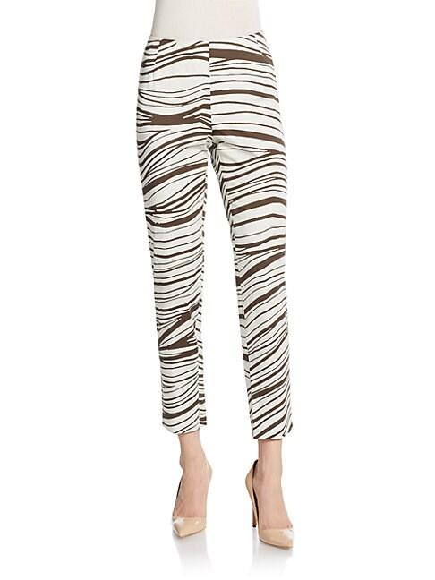 Stanton Zebra-Print Pants