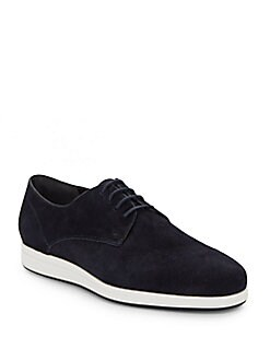 Yuri Embossed Suede Derby Shoes FLINT. Product image