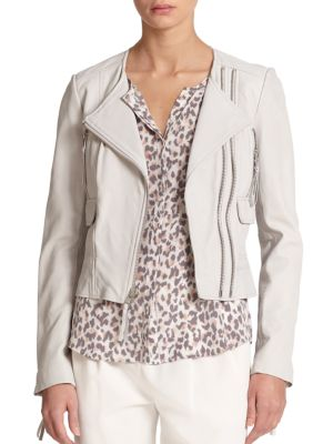 Joie Jackets Vivianette Cropped Leather Jacket
