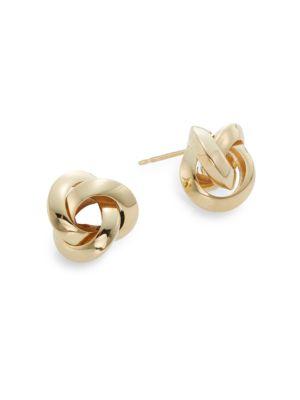 Saks Fifth Avenue  14K Yellow Gold Knot Stud Earrings