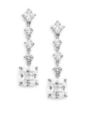 Saks Fifth Avenue  Linear Square Drop Earrings