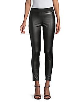 Calvin Klein - Faux-Leather Front Leggings
