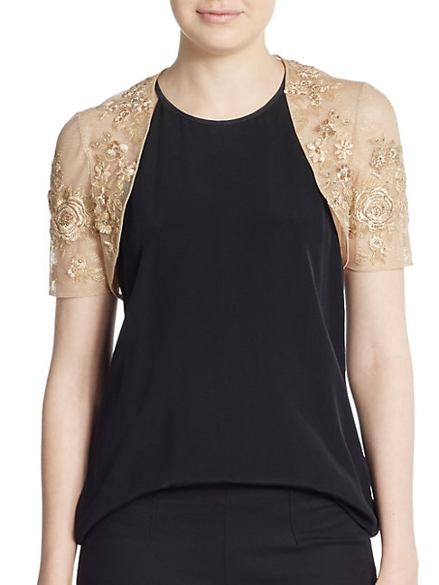 Fitted Lace Bolero Jacket