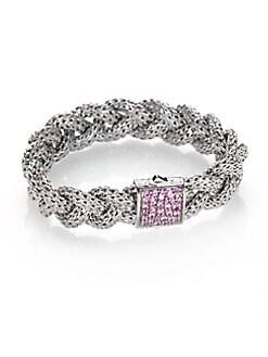 John Hardy Classic Chain Cuff With Diamonds Xs White diamond Zpee2phA3