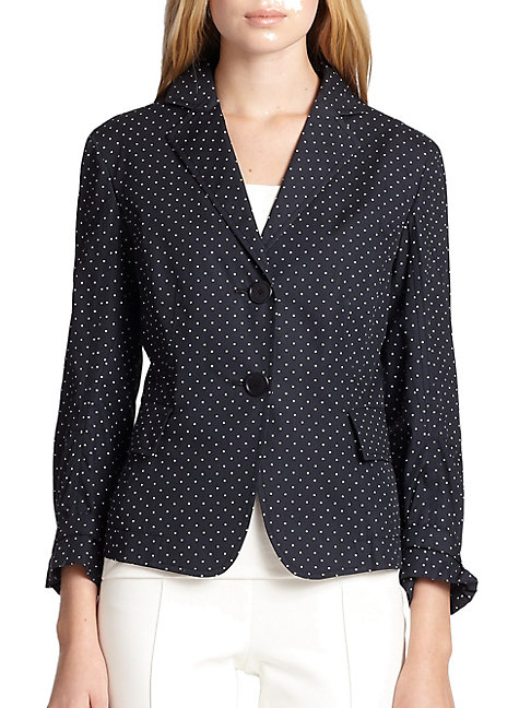 Cotton Polka-Dot Jacket