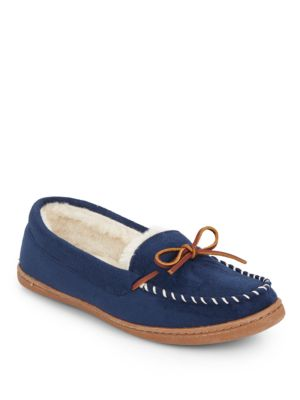 Saks Fifth Avenue Moccasins STITCHED FAUX FUR-LINED MOCCASINS