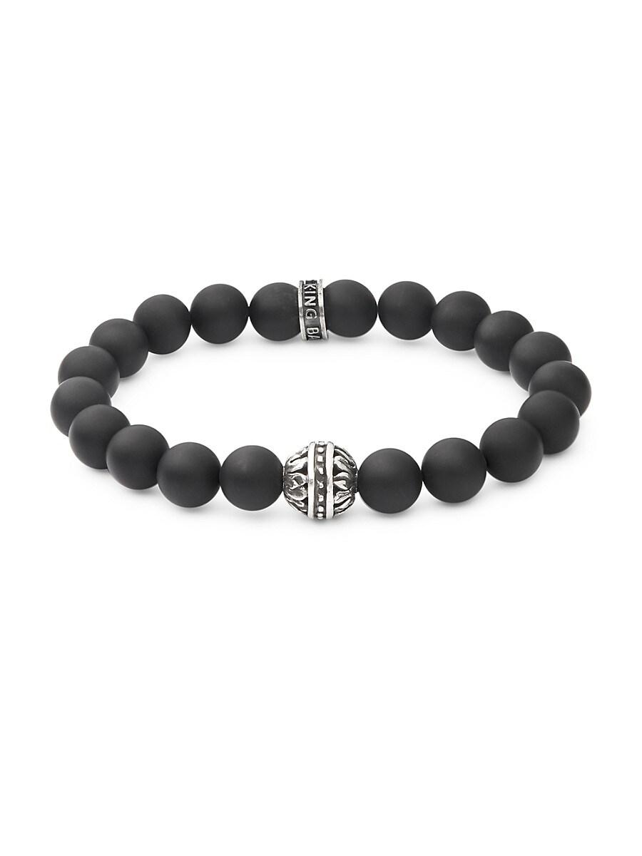 Men's Black Onyx and Sterling Silver Bracelet