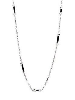 John Hardy - Sterling Silver & Black Sapphire Necklace