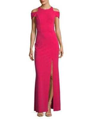 Abs By Allen Schwartz CUT-OUT GOWN